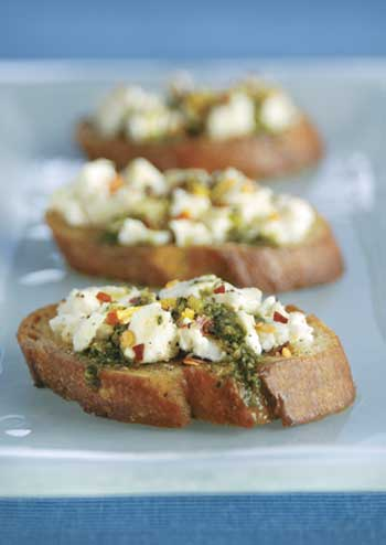 Marinated Feta Bruschetta
