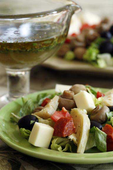 Antipasto Salad with Lemon-White Balsamic Vinaigrette