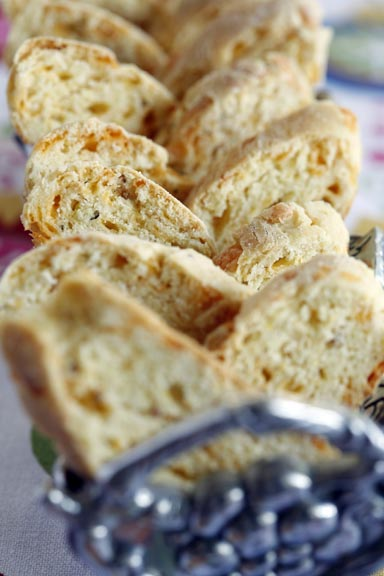 Cheddar and Mustard Seed Biscotti
