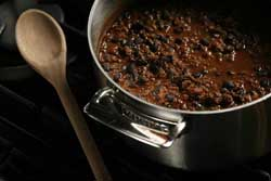 Lamb and Black Bean Chili Mole