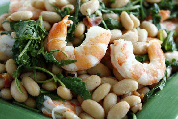 White Bean, Arugula and Shrimp Salad
