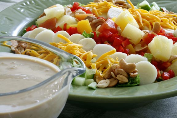 Calypso Chopped Salad with Pineapple-Citrus Dressing