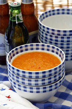 Curried Red Bell Pepper Soup