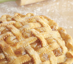 Lattice-Topped Apple Pie with Brown Sugar and Walnuts