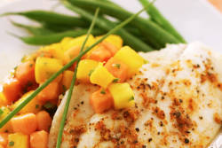 Grilled Catfish with Tropical Fruit Salsa