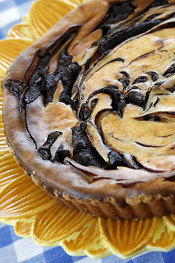 Chocolate Swirl Mascarpone Tart