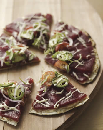 Tuna Pizza with Anchovy Aioli
