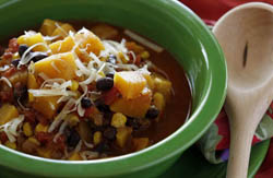 Image of Butternut Squash And Black Bean Chili, Viking
