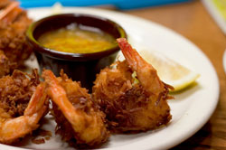 Coconut Shrimp with Spicy Peanut Dipping Sauce