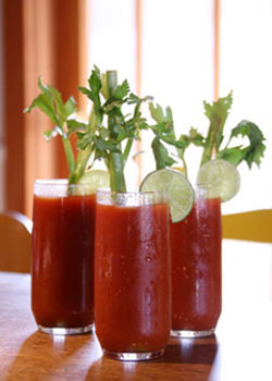 Basil Balsamic Bloody Mary's