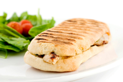 Turkey, Roasted Red Pepper and Brie Panini