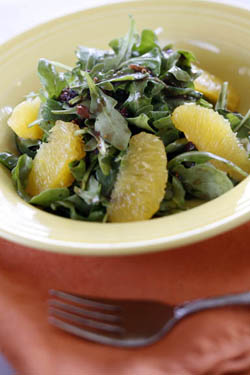 Mixed Greens with Orange, Olive and Fig Dressing