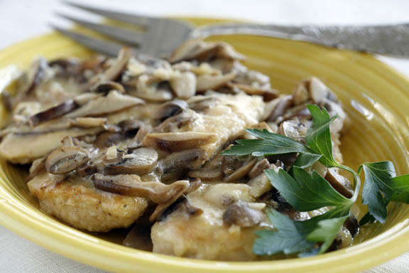 Chicken Marsala with Truffles and Brie
