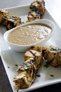 Thai-Style Grilled Eggplant and Tofu Sates