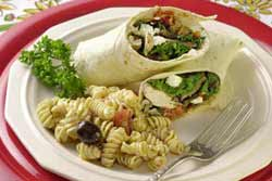 Chicken and Mushroom Wraps