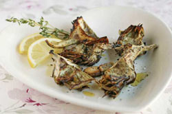 Lemon and Olive Oil-Roasted Artichoke Quarters