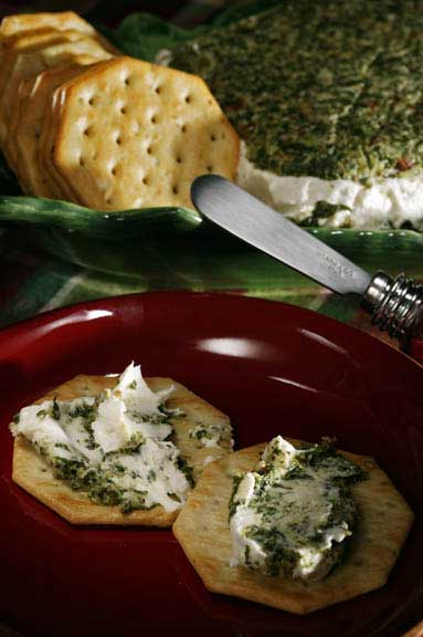 Goat Cheese, Walnut, and Spinach Terrine