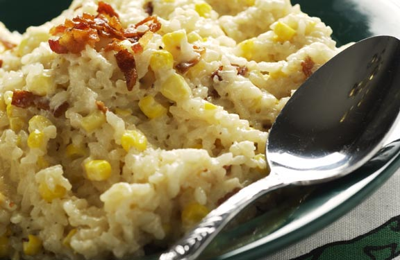 Creamy Bacon-Corn Risotto