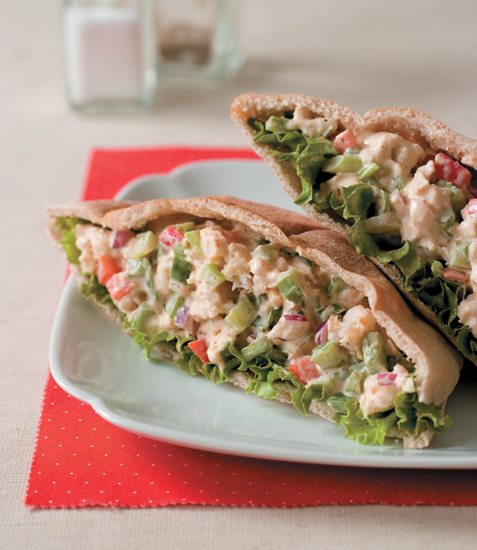 Catfish Salad in Pita