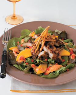 Jamaican Jerk Catfish Salad