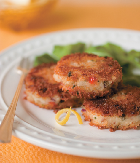 Oven-Baked Catfish Cakes with Lemon Caper Sauce