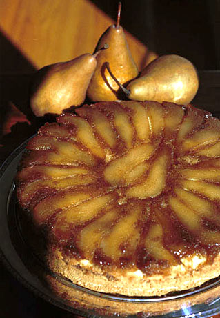 Pear Upside Down Coffee Cake