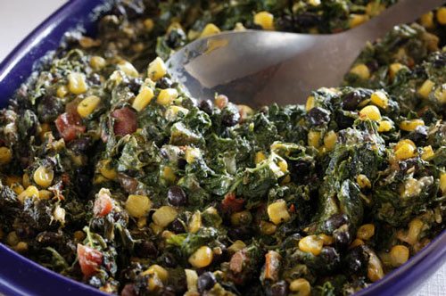 Quick Spinach, Corn and Black Bean Bake