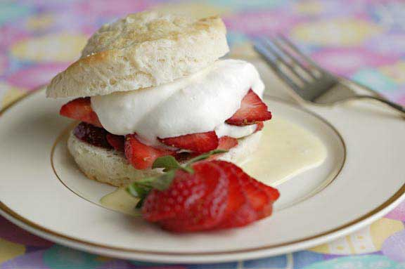 Simple Strawberry Shortcakes with Lemon Mousse and Lemon Creme
