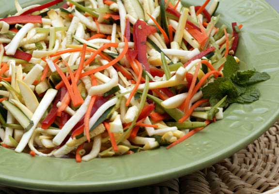 Gingered Summer Squash Slaw