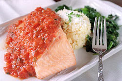 Baked Salmon with Tomato Concasse