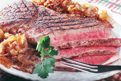Blackened London Broil with Vidalia Marmalade