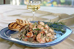 Image of Champagne Shrimp With Rosemary, Viking