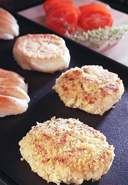 Crab Burgers with Sherry Mayonnaise