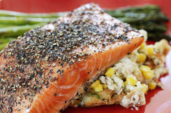 Maple-Cured Pepper-Crusted Salmon