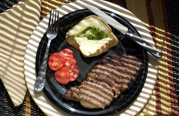 Marinated Rib-Eye Steaks