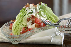 Iceberg Wedge Salad with Blue-Ranch Dressing