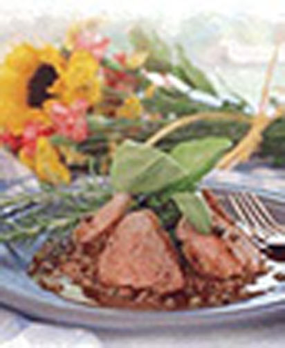 Rosemary Pork Tenderloin with Balsamic Brown Sauce