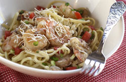 Shrimp and Asiago Pasta