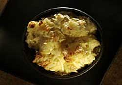 Three-Cheese Bread Pudding