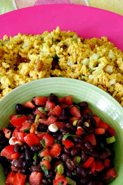 Black Bean and Yellow Rice Salads