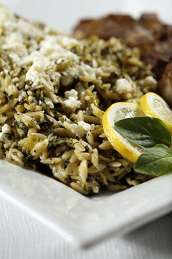 Spinach and Lemon Orzo Pilaf