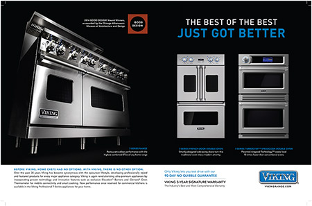 Retail Ad in BMW Magazine Features Viking Professional French-Door Double Oven, TurboChef Double Oven, and 7 Series Freestanding Range