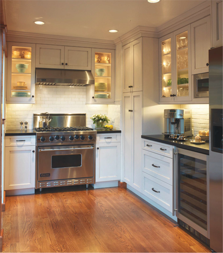 Viking freestanding range and ventilation hood featured in for Viking kitchen designs