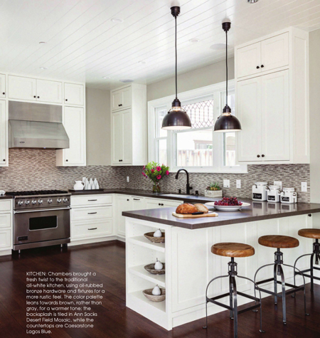 Chambers Brought A Fresh Twist To The Traditional All White Kitchen, Using  Oil Rubbed Bronze Hardware And Fixtures For A More Rustic Feel.