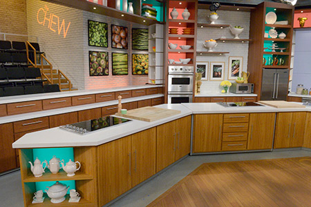 viking kitchen on set of abc s the chew viking range llc